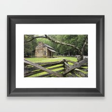 Oliver's Cabin in the Great Smokey Mountains Framed Art Print