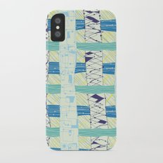 Doodled Checks iPhone X Slim Case
