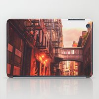 new york city iPad Cases featuring New York City Alley by Vivienne Gucwa