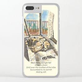 Sleepy Sunday Clear iPhone Case