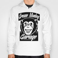 grease Hoodies featuring Grease Monkey Garage by Broenner