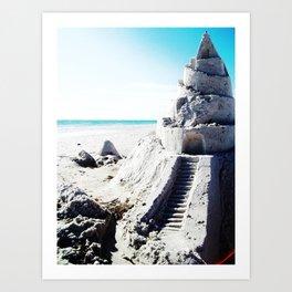 Same Beach, Same Castle Art Print