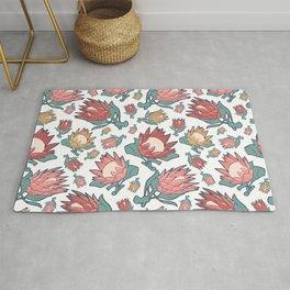Australian Native Floral Pattern - King Protea Rug