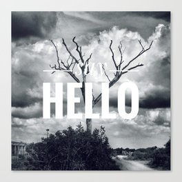 Motus Operandi Collection: Say hello Canvas Print