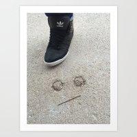 La rue sourie Art Print