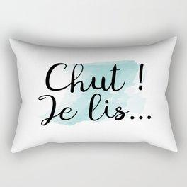 Chut ! Je lis... Rectangular Pillow