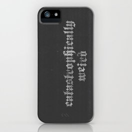 Not like the other girls... (catastrophically weird) iPhone Case