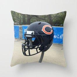 Bears Helmet Color Photo Throw Pillow