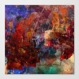 Red skyline Canvas Print