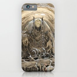 """""""The Troll Cave"""" Watercolor by John Bauer iPhone Case"""