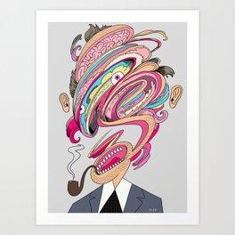 Mesh Head Art Print