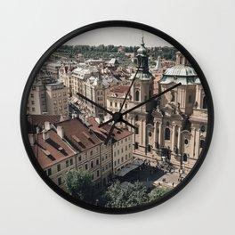 Prague rooftop Wall Clock