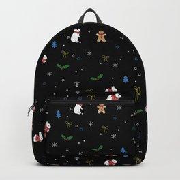 Christmas Bunnies Pattern Backpack