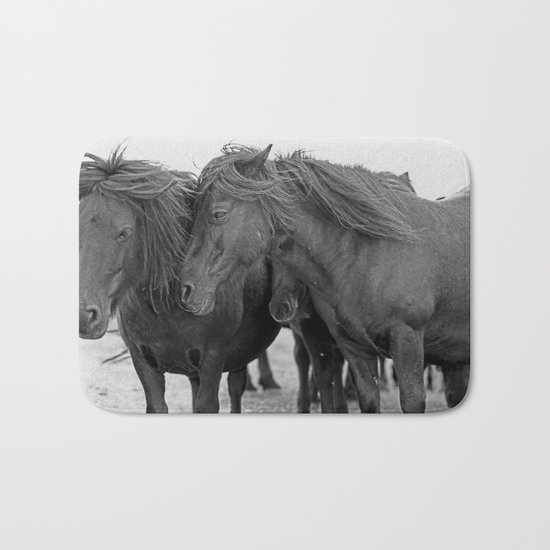 PONIES IN THE WIND Bath Mat