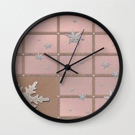 Sandal Eunry Snow Crystals Wall Clock