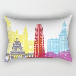 Havana V2 skyline pop Rectangular Pillow
