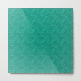 Abstract turquoise green pattern . Metal Print