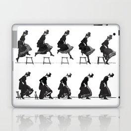 Woman Jumping Laptop & iPad Skin