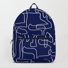 Hebrew Alphabet Seamless Pattern Backpack