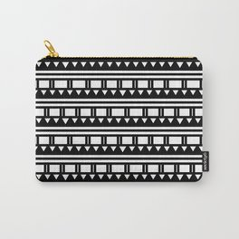 Hopi Stripe - Black and White Carry-All Pouch