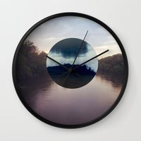 camp Wall Clocks featuring Camp by Oscar Joyo
