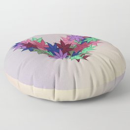 A Heart of Flowers - Breathe Me In - 57 Montgomery Ave Floor Pillow