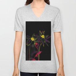 Black rudbeckia Unisex V-Neck