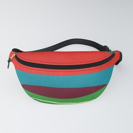 Abstract Composition in Red and Green Fanny Pack