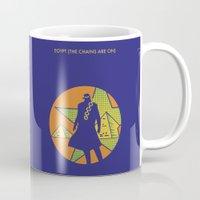 jojo Mugs featuring EGYPT (CHAINS ARE ON) - DIO - JOJO by Mirco Greselin