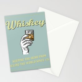 Irish Whiskey Funny Quote Stationery Cards