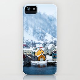A Small Town in Norwegian Fjords iPhone Case