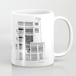 Jeddah AlBalad Souq AlJami Facade BW Saudi Arabia Coffee Mug