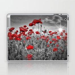 Idyllic Field of Poppies with Sun Laptop & iPad Skin