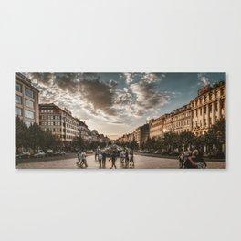 Wenceslas Square in Prague (Czech Republic) Canvas Print