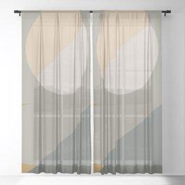 Contemporary Composition 28 Sheer Curtain