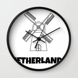 The Windmills At Kinderdijk Wall Clock