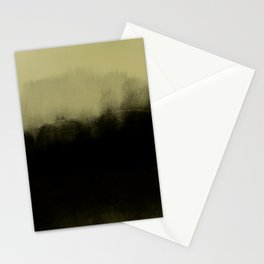 golden lime & graphite Stationery Cards