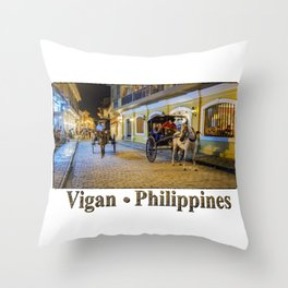 Vigan Philippines Throw Pillow
