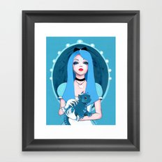 Alice Wore Blue Framed Art Print