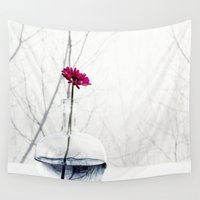 flower of life Wall Tapestries featuring flower by Ingrid Beddoes