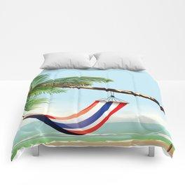 puerto rico hammock beach poster Comforters