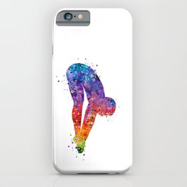 Boy Springboard Diver Colorful Watercolor iPhone Case