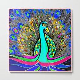 Beautiful Peacock Metal Print