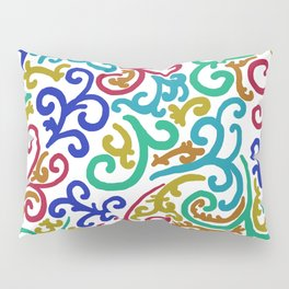 Colourful Swirls Pillow Sham