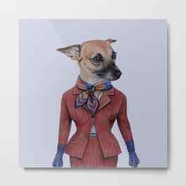dog in uniform Metal Print