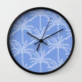 Palm grove - blue Wall Clock
