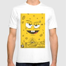 Sponge Bob MEDIUM White Mens Fitted Tee
