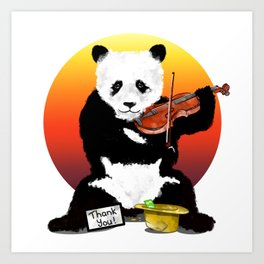 Panda Playing a Violin Art Print
