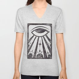 Clarity (White) Unisex V-Neck