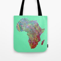 africa Tote Bags featuring Africa by mthbt